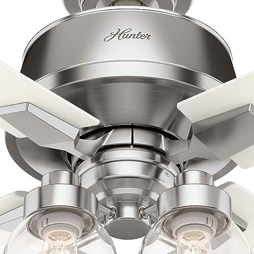 Hunter Fan Company 59650 Viven Ceiling Fan, 52, Brushed Nickel