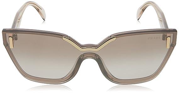 Prada Damen Sonnenbrille 0PR16TS VIT4O0, Braun (Light Brown/Brown Silver), 48