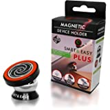 SMART & EASY Plus Magnetic Tablet Holder, Tablet Car Mount, Universal Magnetic Mount For Car Kicthen And Office, Suitable For All Phone Sizes + Samsung Tablets, Phablets, IPads, IPad Mini