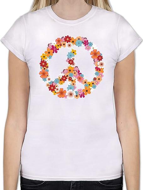 Damen Woodstock T-Shirt Geschenk Frieden und Musik Festival Damen
