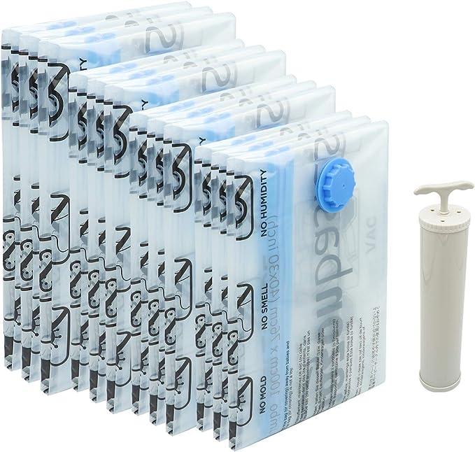 AmazonBasics - Paquete de 12 bolsas de vacío para almacenamiento ...