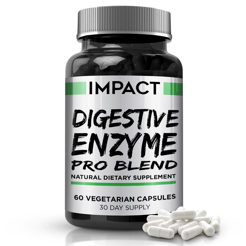 Mezcla Pro de Enzimas Digestivas – Ayuda Natural sin Gluten para Mejor Digestión y Absorción de Lactosa, Combate el Hinchazón y Alivia los Gases, ...