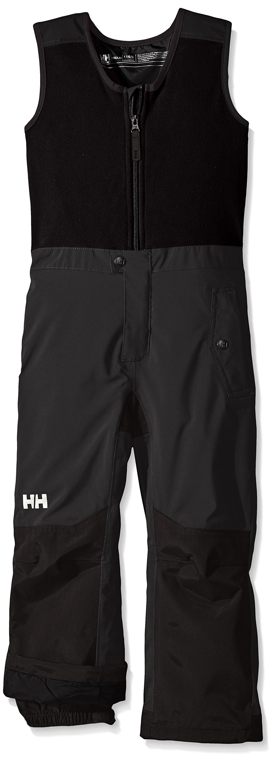Helly Hansen Kids Powder Bib Pants, Ebony, Size 8 by Helly Hansen (Image #3)