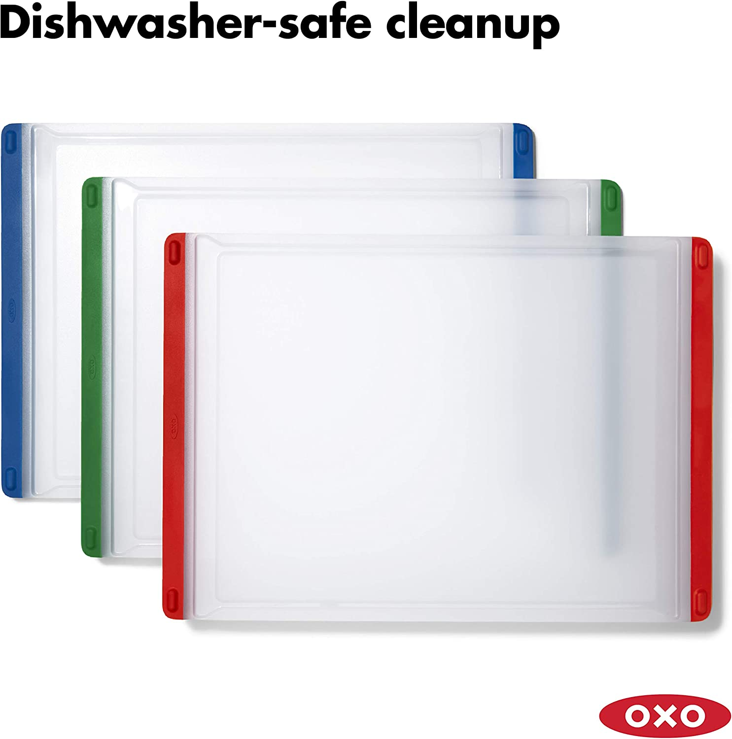 Multi One Size OXO 11284700 Good Grips 3-Piece Everyday Cutting Board Set