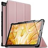 ELTD Huawei 10.1インチ MediaPad M5 Lite 10 タブレット ケース MediaPad M5 lite 10 ケース Wi-Fiモデル/LTEモデル適用 オートスリープ機能付き 手帳型ケース ローズゴールド