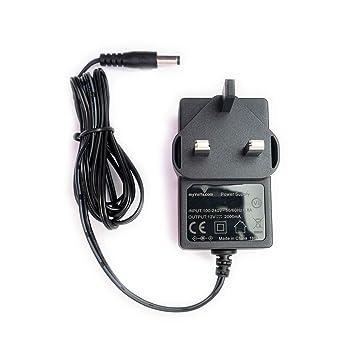 MyVolts UK power lead 12V plug compatible with Western Digital External  hard drive WDBAAU0010HBK-01
