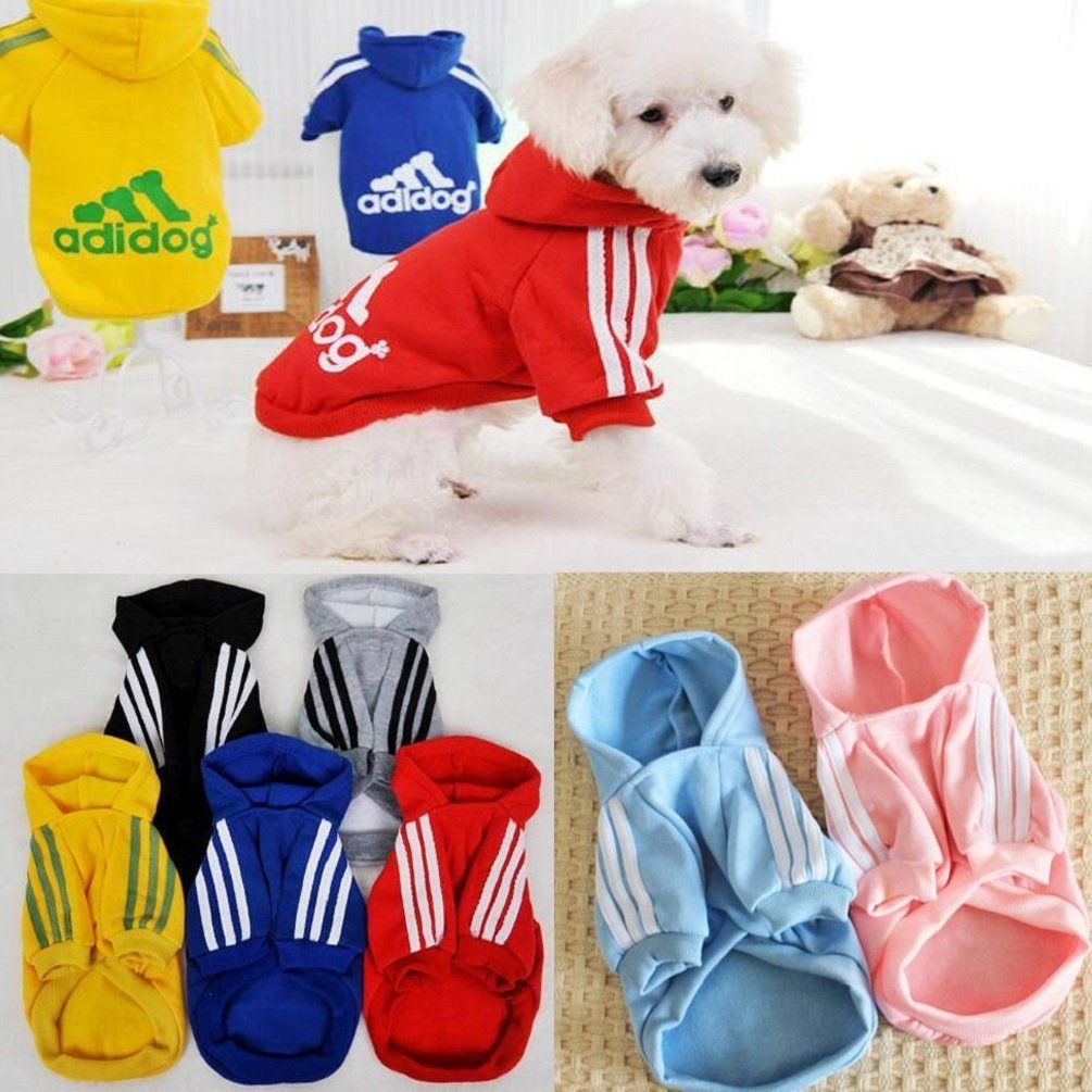 KayMayn Adidog Sport Dog Hoodie Pet Puppy Dog Cat Shirt Coat Clothes Hoodie Sweater Costumes Big /& small Size S to 9XL ,6 Colours