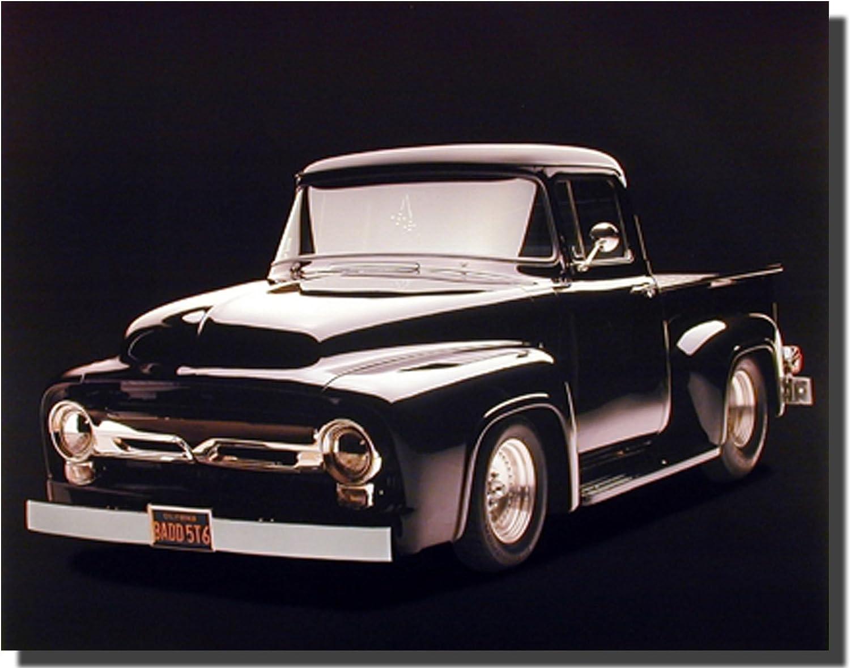 Vintage Black Ford F 100 Pick Up Truck Wall Decor Art Print Poster (16x20)