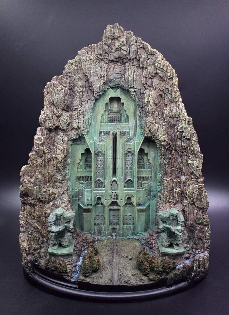 LIZHIOO 27 cm Seigneur des Anneaux Jouet Hobbit Erebor Lonely Mountain Porte résine Figure Statue Jouet Collection modèle Bureau Décoration Cadeau