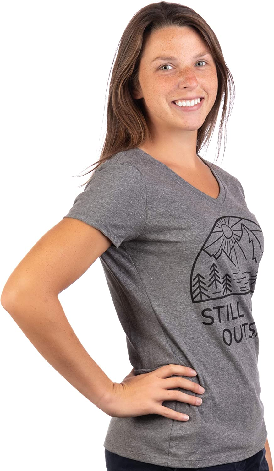 Funny Cool Camping Hiking Camp Hike Women Outdoors Shirt Top Still Plays Outside