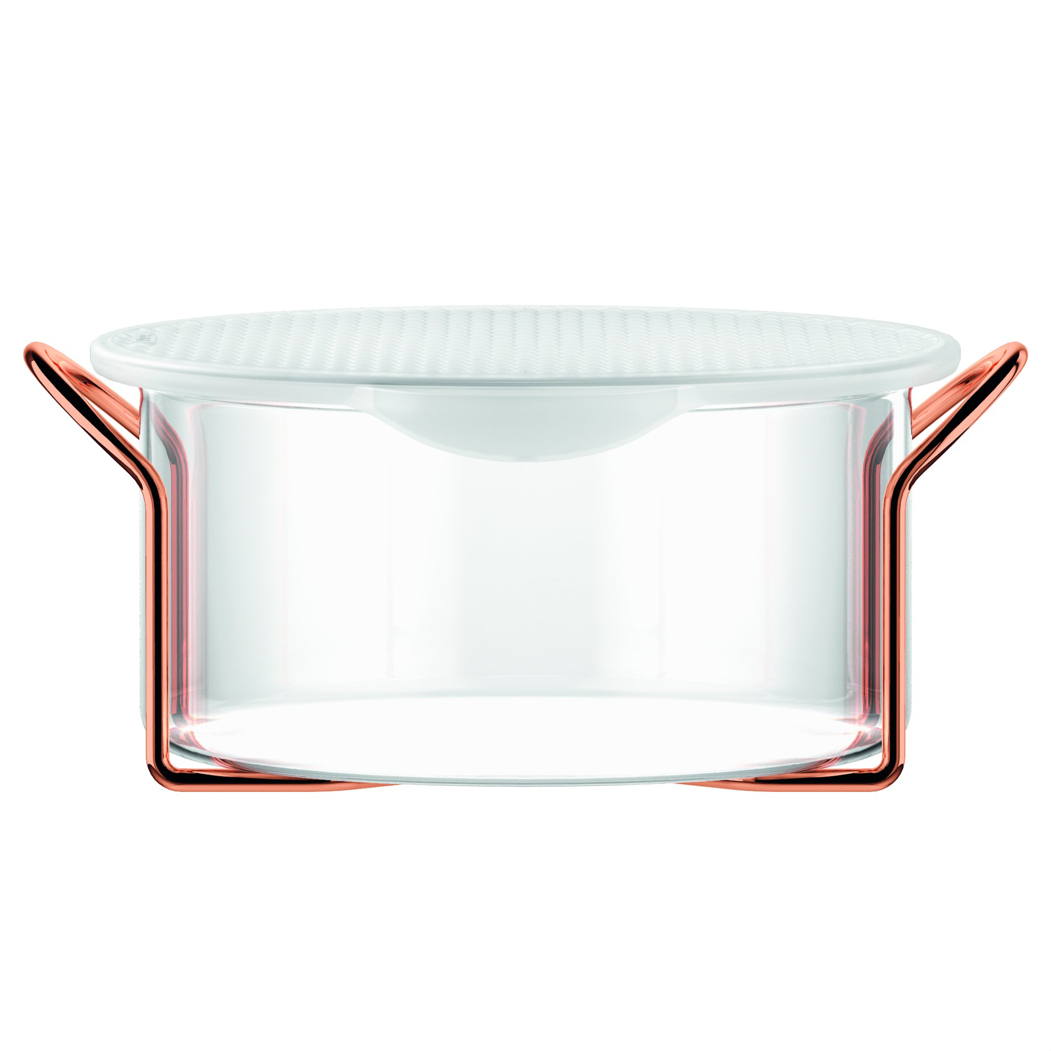 Bodum Hot Pot Bakeware Dish with Silicone Lid & Copper Stand, 2.0 L/68 oz/Large, Copper by Bodum (Image #1)