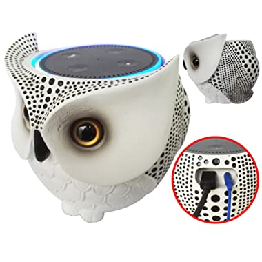 FitSand Owl Statue Crafted Stand Guard Station Holder for Amazon Echo Dot 2nd and 1st Generation, Jam Classic Speaker - BFF For Alexa