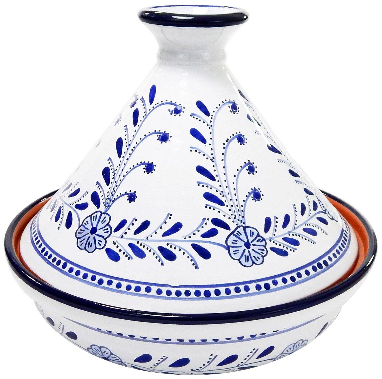 Le Souk Ceramique AZ20CT Cookable Tagine 12 Inch, Azoura, Large