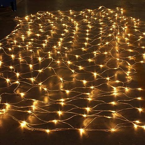 LED Lichternetz Lichterkette Lampenkette Hochzeiten Weihnachten Bunt Innen