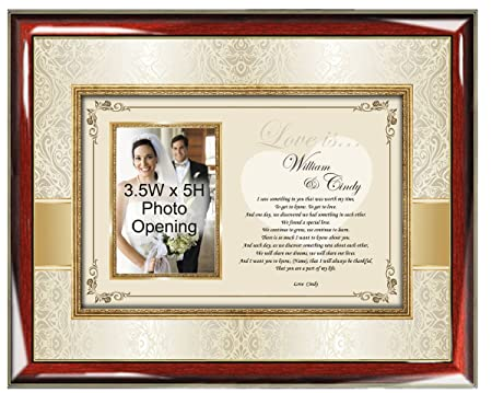 Personalized Love Poetry Gift Picture Frame Husband Wife Girlfriend