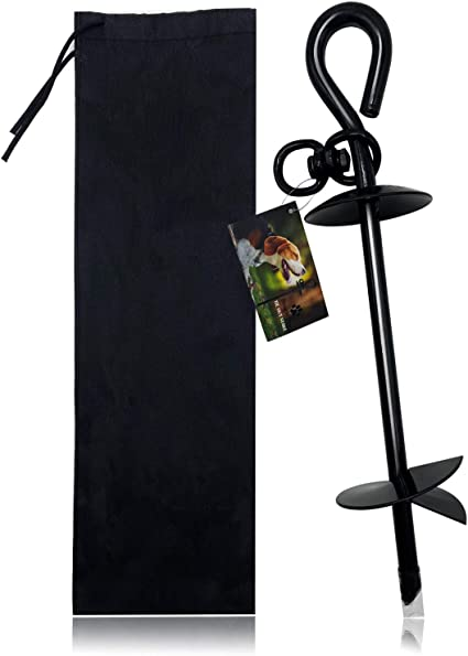 Paws Metal 75 inch Spiral Dog Tie Out Stake