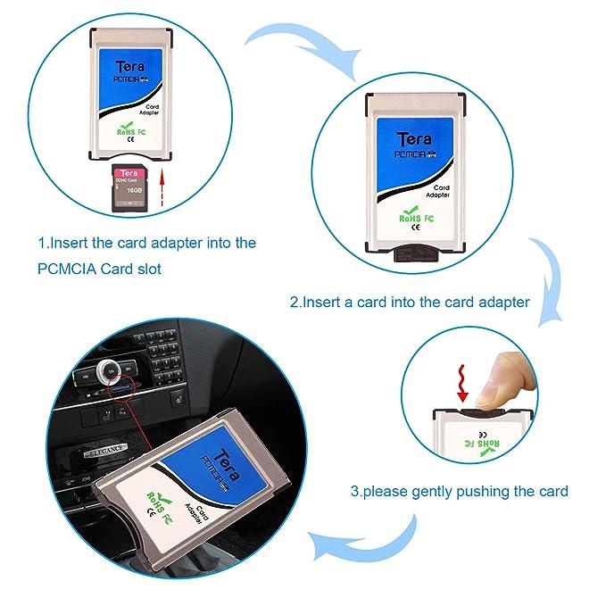 Tera Adaptador PCMCIA para Tarjetas SD/SDHC Adaptador conversor de Tarjetas, 100% compatibilidad con Mercedes Benz APS con Ranura PCMCIA (Sólo para ...
