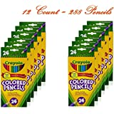 Crayola Colored Pencils, 24 Count (Pack of 12)