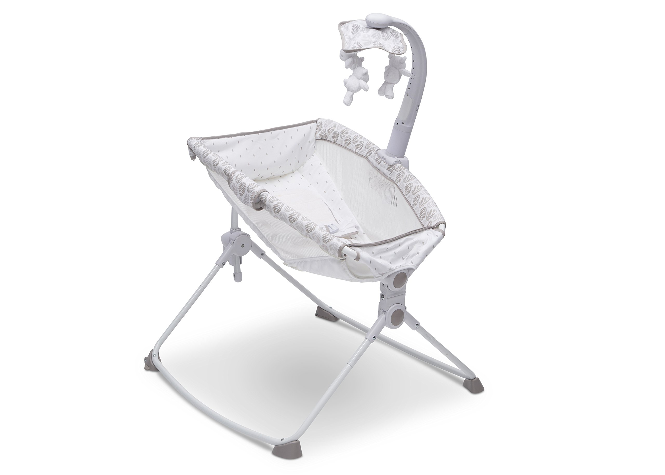 Simmons Kids Deluxe 3-in-1 Activity Rocker, Feeder and Incline Sleeper for Newborns, Pom Meadow