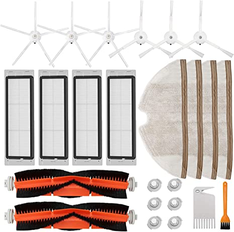 Roller Side Brushes Filter For Xiaomi Mi Roborock S50 Vacuum Cleaner Supplies
