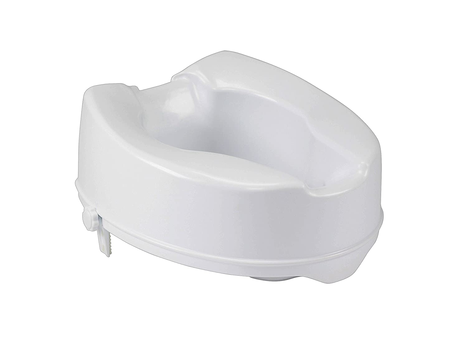 Drive Medical Raised Toilet Seat with Lock, Standard Seat, 2 2 12062 12062B