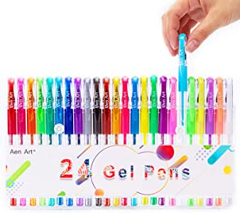 Gel Pens, Colored Gel Pen, Fine Point Gel Markers Pen for Kids Coloring Books, Drawing, Writing