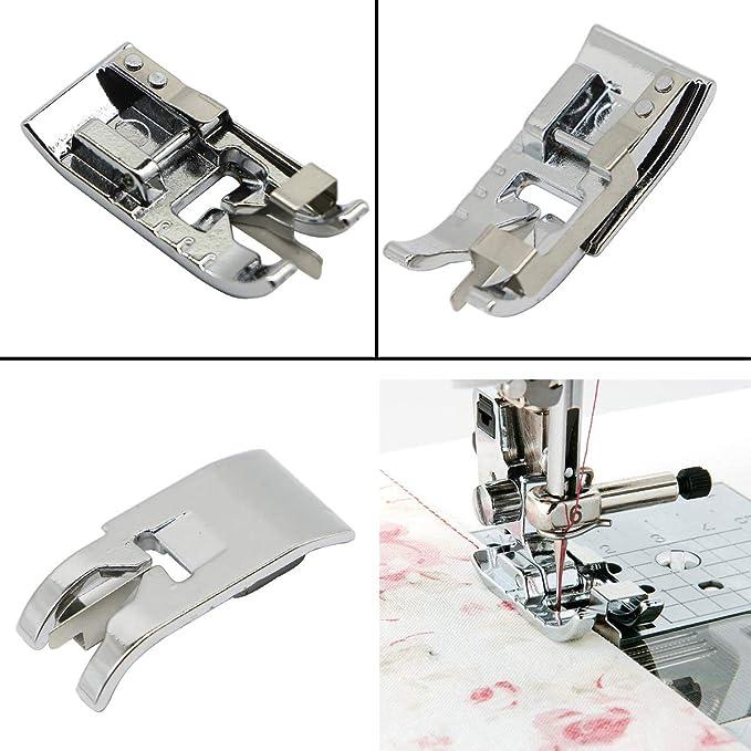 Juego de 3 prensatelas para máquina de coser – Prensatelas de 1/4 ...