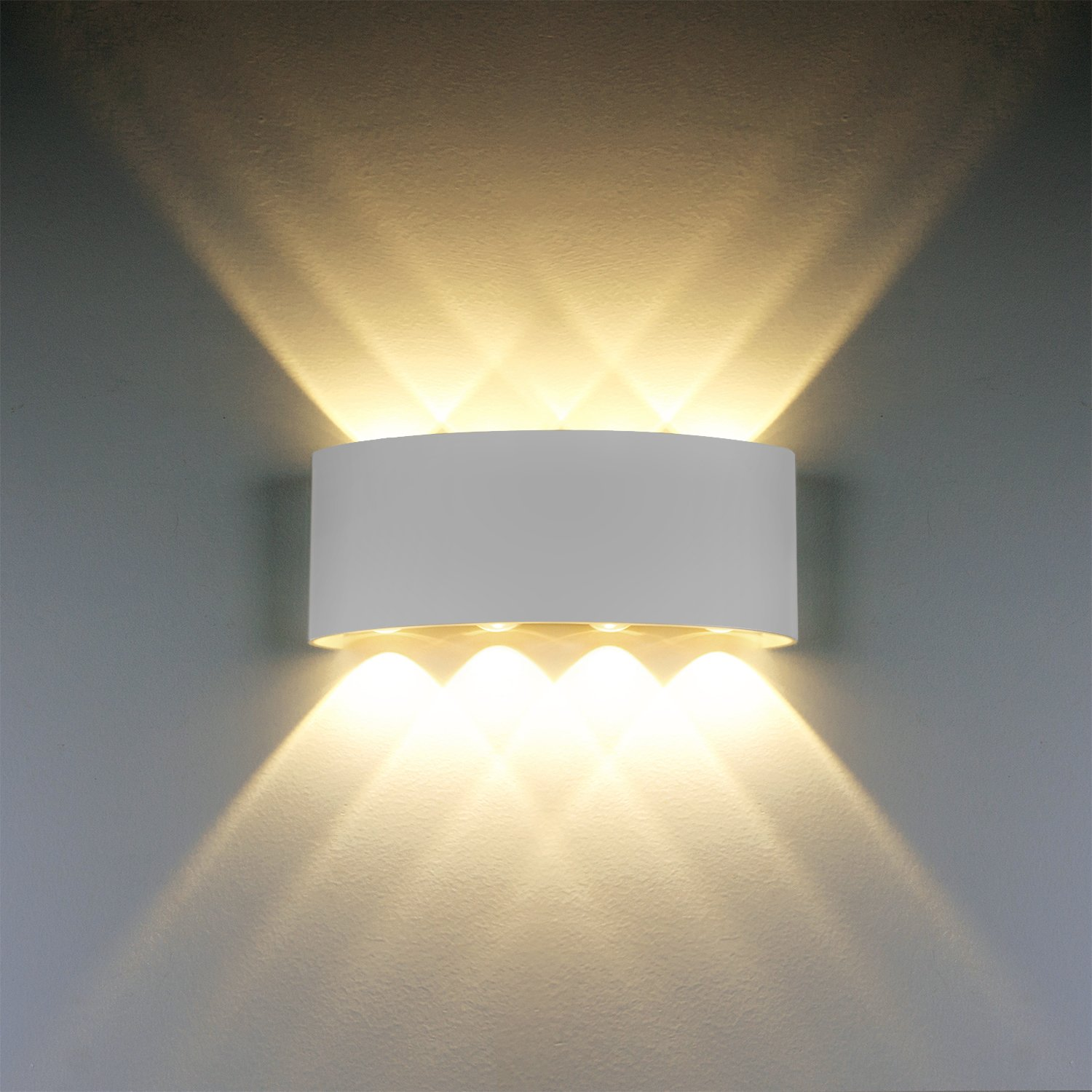 Best lampade da parete moderne w led applique da parete in for Luci a led per interni casa