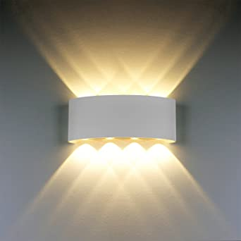 Modern wall light 8w white led sconce up down wall lamp aluminium modern wall light 8w white led sconce up down wall lamp aluminium led waterproof spot light aloadofball Image collections