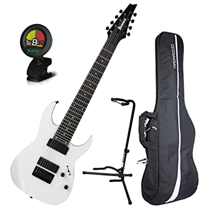 Amazon Com Ibanez Rg8 8 String Electric Guitar White W Gig Bag