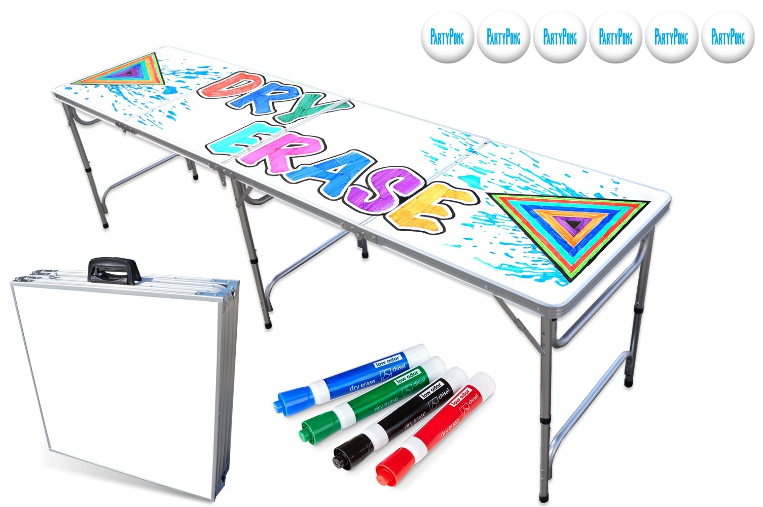 PartyPongTables.com 8-Foot Beer Pong Table - Dry Erase Surface by PartyPongTables.com