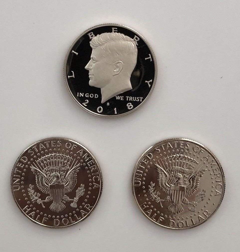 2010 s 2011 s 2012 s 2013 s Silver Proof Kennedy Half Dollar 4 Coin Lot Set