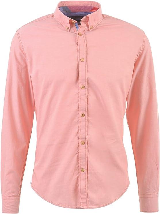 Colours & Sons John Camisa, Naranja (Salmon), S para Hombre ...