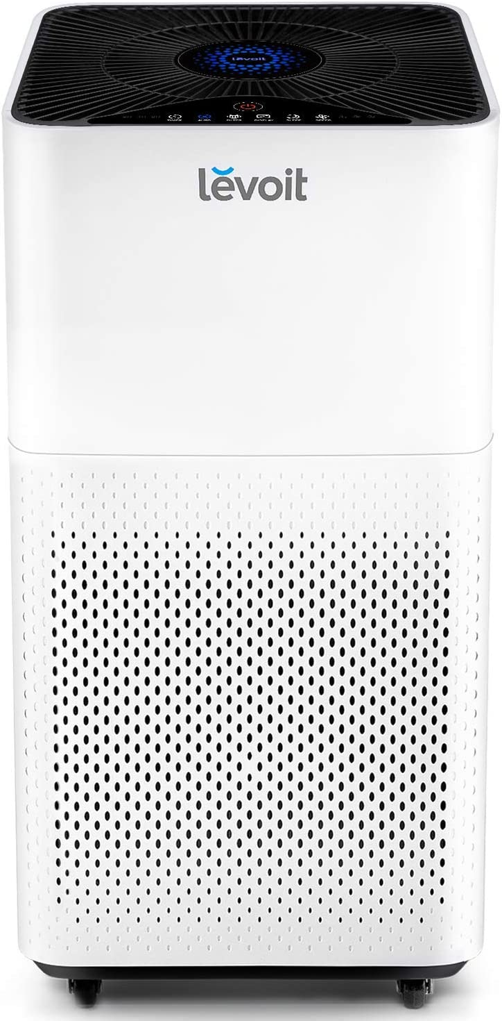 LEVOIT Air Purifier for Home Large Room with True HEPA Filter, Air Cleaner for Allergies and Pets, Smokers, Mold, Pollen, Dust, Quiet Odor Eliminators for Bedroom, 463 Sq. Ft, LV-H135 (Renewed)