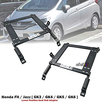 Front 1 Set Lower Position Seat Rail Recaro Sparco Bride Honda Jazz GK 2014 ON