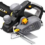 JELLAS 7.5Amp Power Hand Planer, 16,500Rpm Electric Planer, 3-1/4 Inch Cut Width, Dual-dust out System, Dual-handle design,Bl