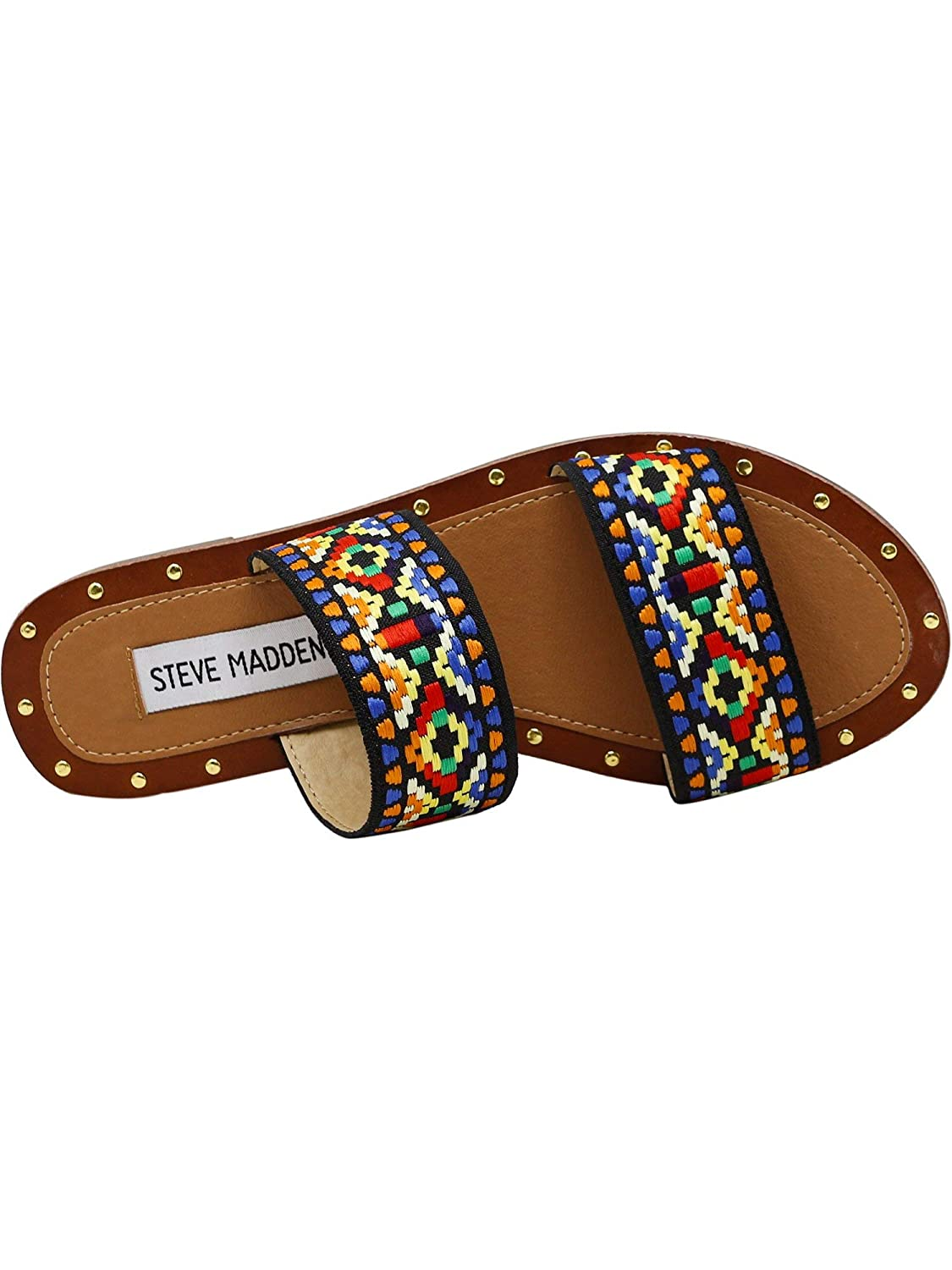 0988b53159a Steve Madden Women s Marcia Tribal Double Strap Flat Sandals Multi 11 B(M)  US  Buy Online at Low Prices in India - Amazon.in