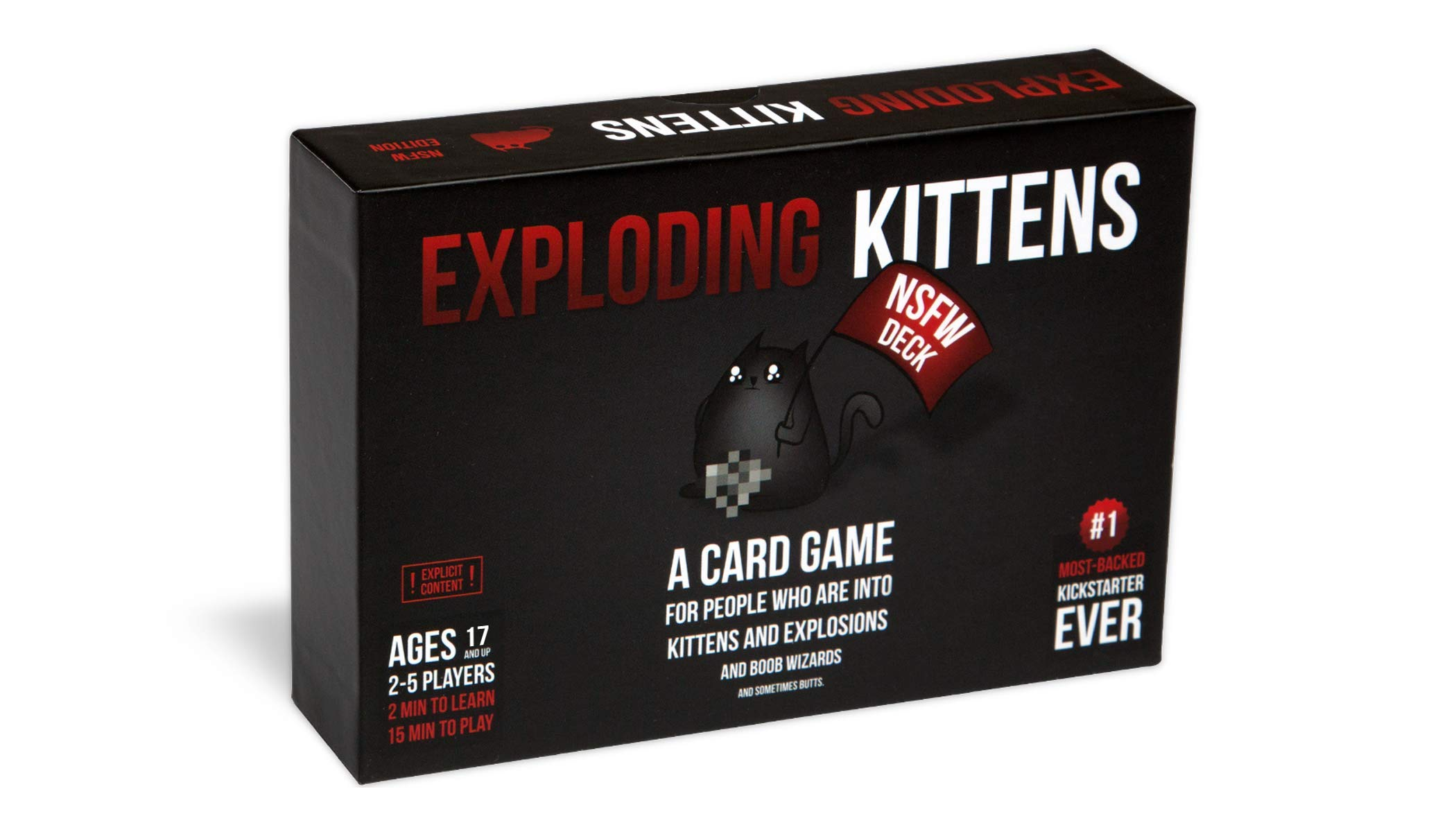 Exploding Kittens Card Game - Nsfw (Explicit Adult Content) Edition - Family-Friendly Party Games - Card Games for Adults, Teens and Kids
