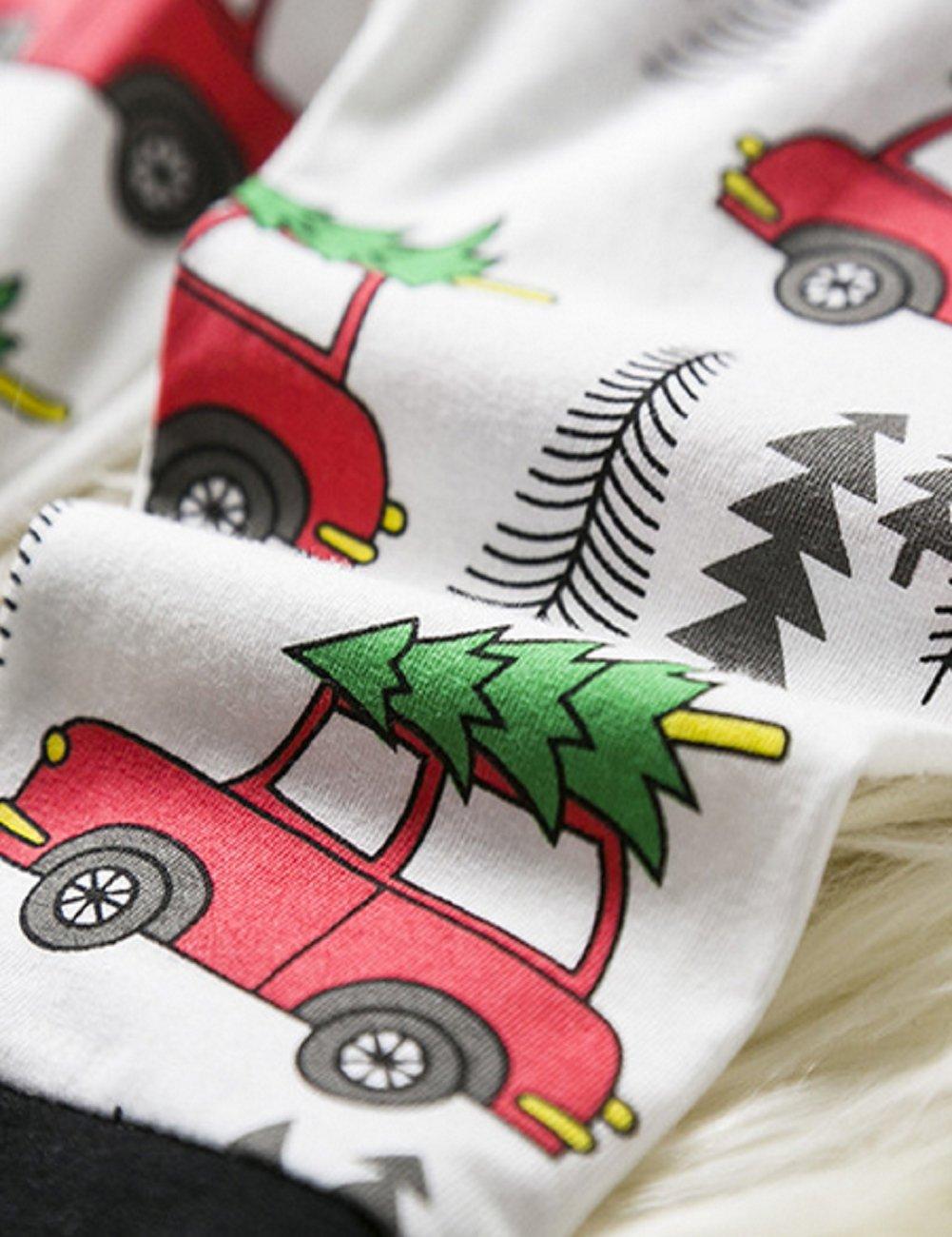 Niños gorro de Navidad Set, sryshkr bebé Navidad Tops + pantalones ropa de casa pijama 3 piezas Set: Amazon.es: Oficina y papelería