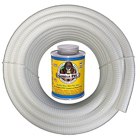 HydroMaxx 50 Feet x 3/4 Inch White Flexible PVC Pipe Hose Tubing  sc 1 st  Amazon.com & Amazon.com : HydroMaxx 50 Feet x 3/4 Inch White Flexible PVC Pipe ...