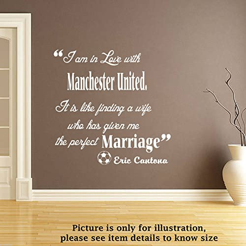 Manchester United Wall Quote Football Club Decals Vinyl Wall Art Stickers  Murals Removable Wall Decal Part 65