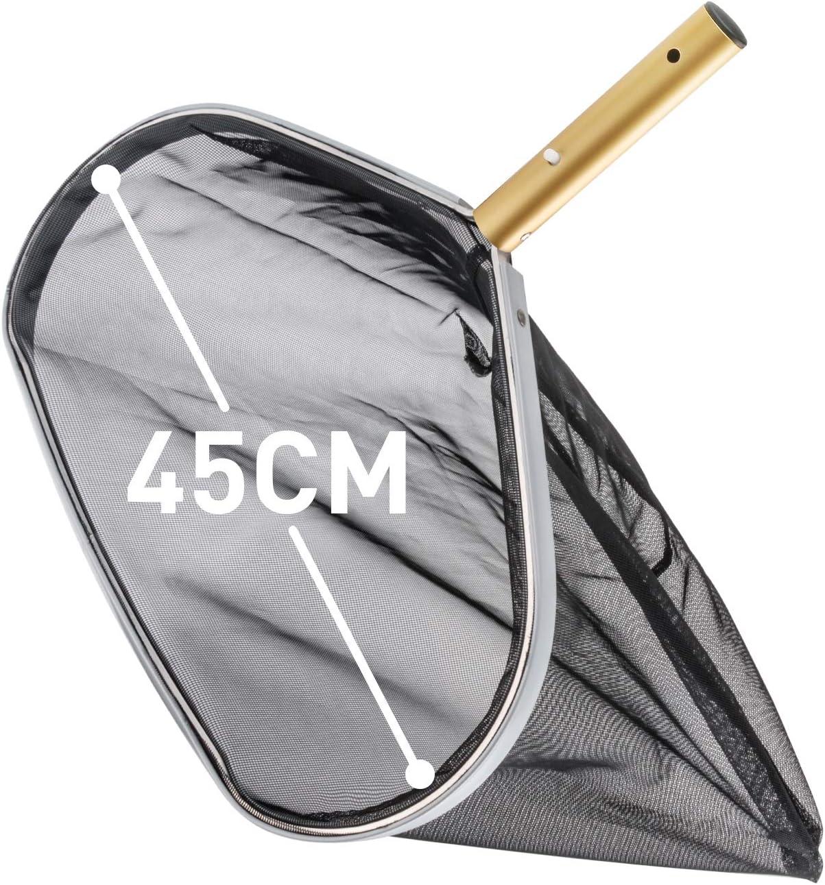 Recogehojas para Piscinas, 45 cm Pool Net Leaf Skimmer deep-bag Red para estanques Recoge Hojas encaja en la mayoría de barra telescópica