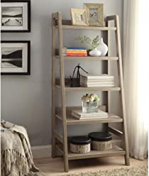 Tracey Five Shelf Ladder Bookcase