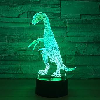 Optique 3d Lampe Dinosaure D'illusion Lumière De Fissen Led oCdBWrex