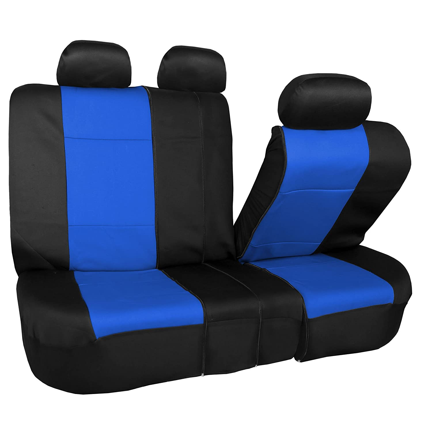 Cushion FH Group FB087GRAY115 Premium Neoprene Seat Cover Water Resistant//Airbag//Split Bench Compatible
