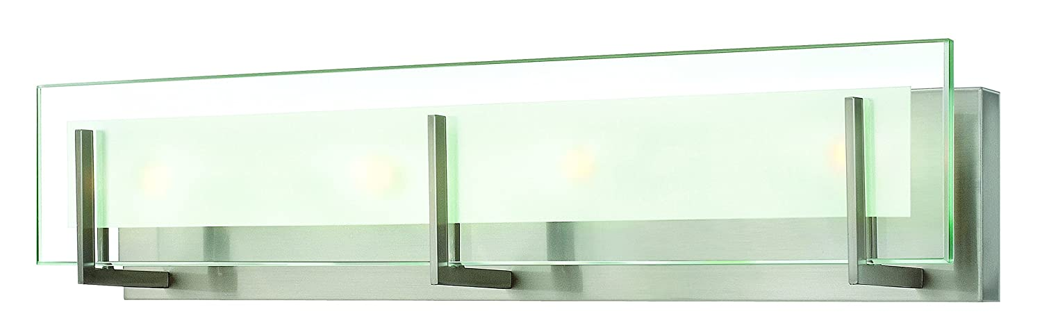 Hinkley 5654BN Contemporary Modern Four Light Bath from Latitude collection in Pwt Nckl B/S Slvr.finish - Vanity Lighting Fixtures - Amazon.com  sc 1 st  Amazon.com & Hinkley 5654BN Contemporary Modern Four Light Bath from Latitude ... azcodes.com