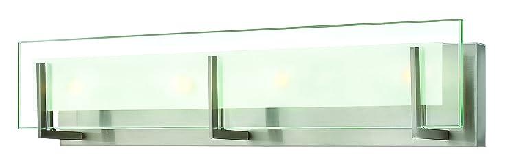 Hinkley 5654bn contemporary modern four light bath from latitude hinkley 5654bn contemporary modern four light bath from latitude collection in pwt nckl b aloadofball Choice Image
