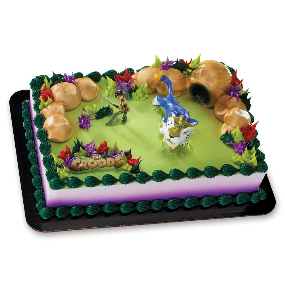 Amazon.com: Decopac The Croods Man vs. Beast DecoSet Cake Topper ...