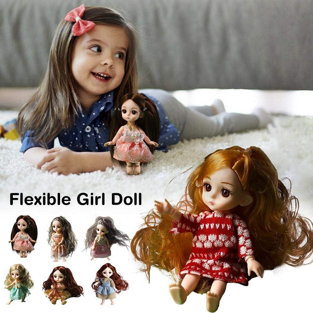 chora Girl Doll , 16cm Lovely Synthetic Mohair DIY Toys 3D Color Contact Peluca De Maquillaje Doll Long Pony Articulaciones M/óviles Accesorios De Mu/ñeca Babaopu Muscle Doll para Regalo De Cumplea/ños