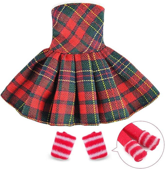 Amazon.com: E-TING Santa Couture - Ropa para muñeca de elfo ...
